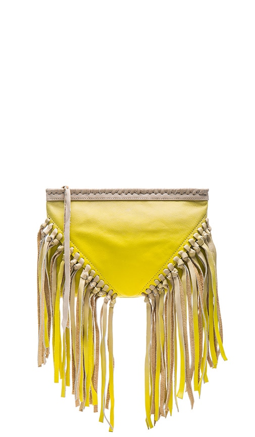 Cleobella Concert Clutch in Chartreuse