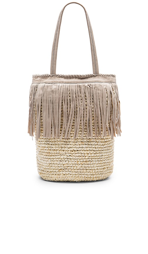 Cleobella Palms Tote Bag in Beige