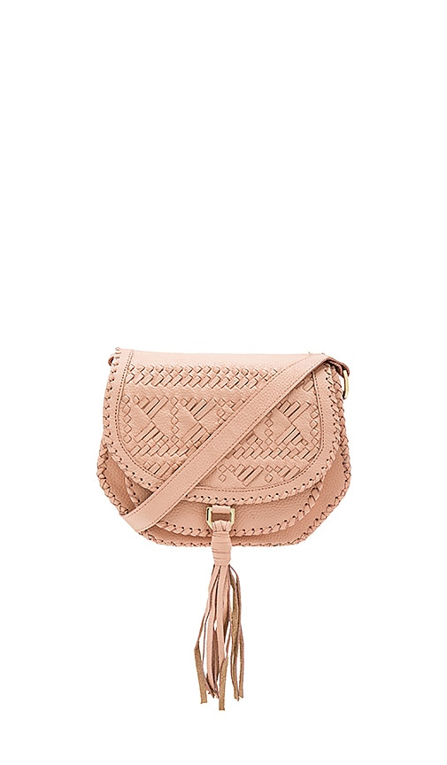 Cleobella Goldie Saddle Bag in Blush