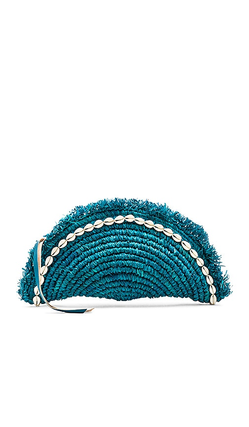 Cleobella Las Lagunas Clutch in Blue