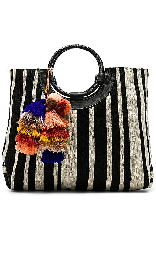Cleobella Irene Tote in Black & White