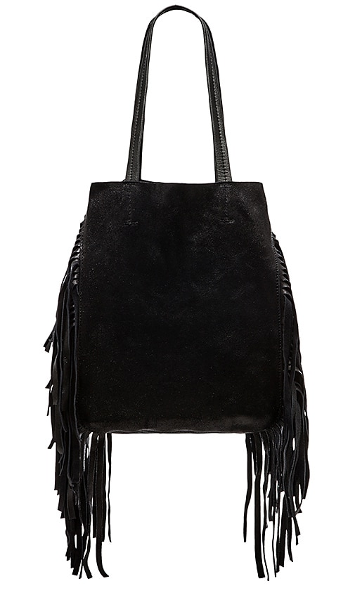 Cleobella Hendrix Tote in Black Crackle
