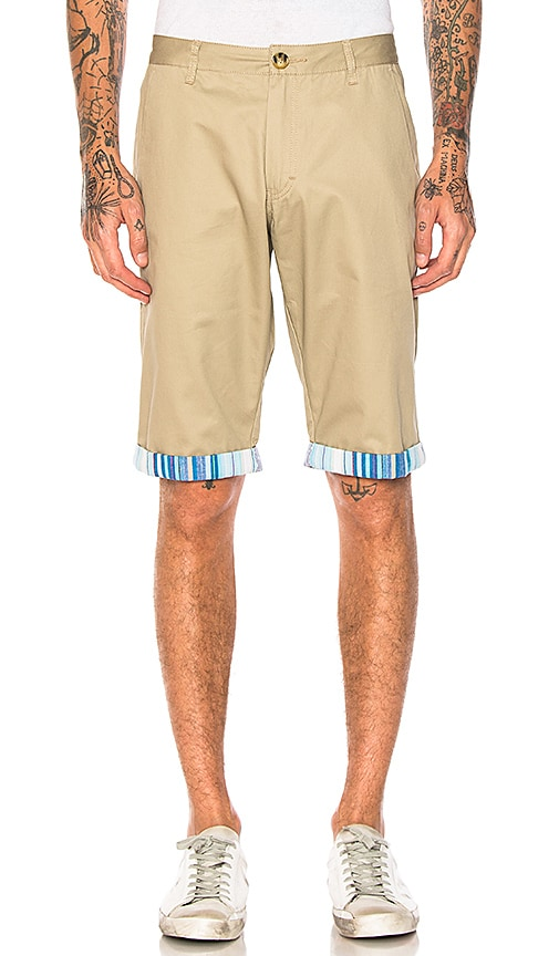 CLOT Roll Up Shorts in Brown