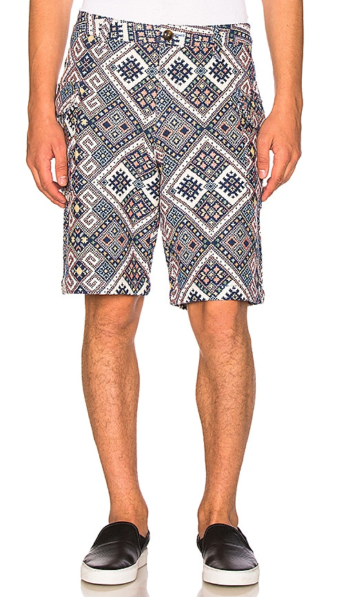 CLOT Ethnic Print Shorts in Blue