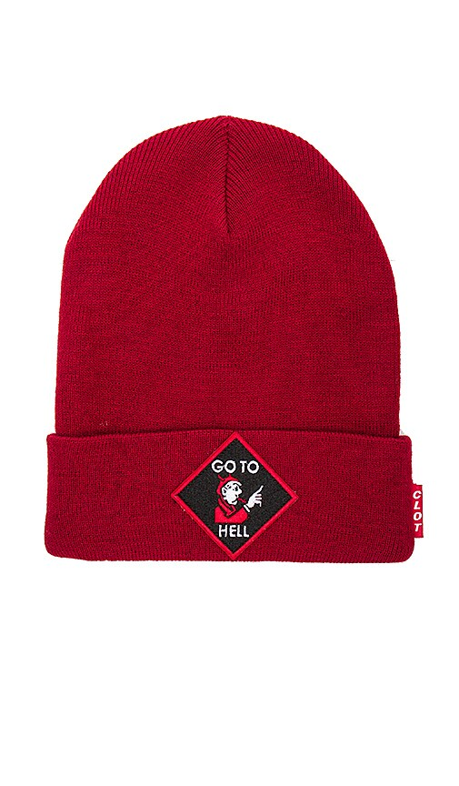 CLOT Go To Hell Beanie in Red