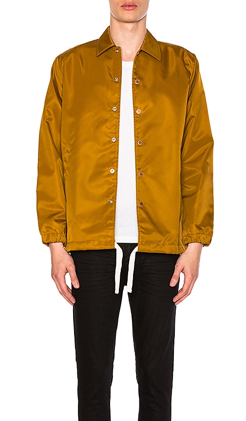 CLOT Long Flight Satin Jacket in Brown