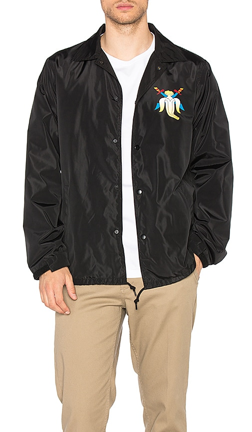CLOT x Sk8thing Banana Coach Jacket in Black