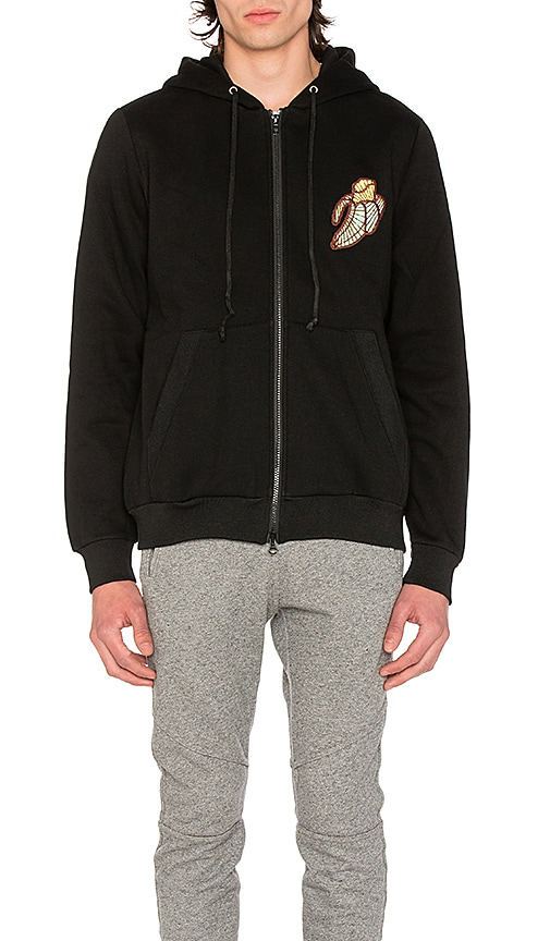 CLOT x Sk8thing Zip Up Hoodie in Black