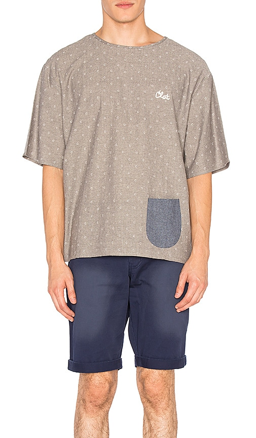 CLOT Oversized C Logo Polka Dot Tee in Gray