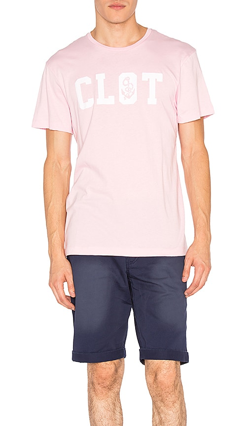 CLOT Anchor Typefont Tee in Pink