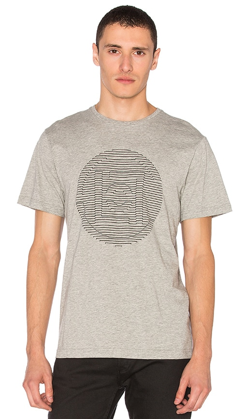 CLOT Embossed Logo Tee in Gray