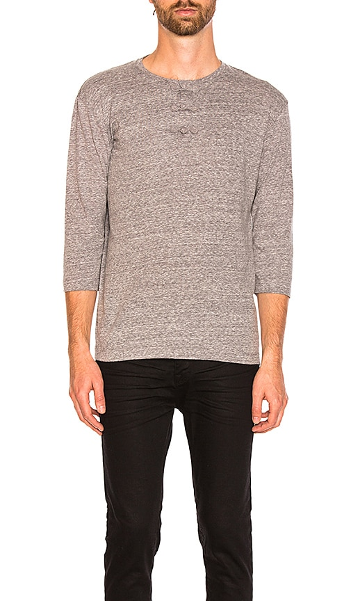 CLOT Chinese Henley Tee in Gray