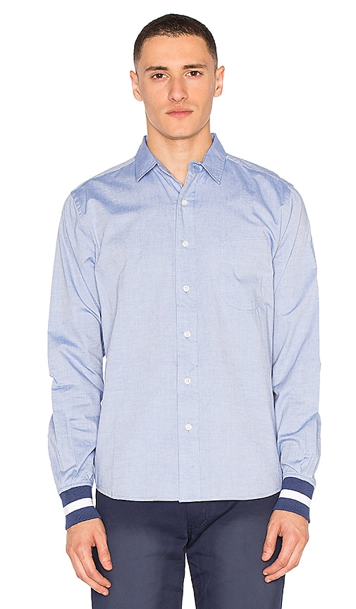 CLOT Ribbed Cuff Shirt in Blue