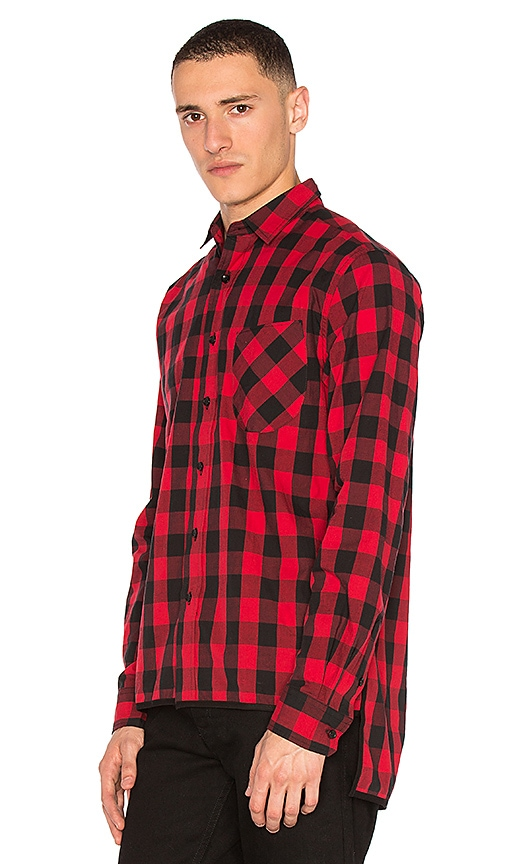 CLOT Side Slit Checker Shirt in Red