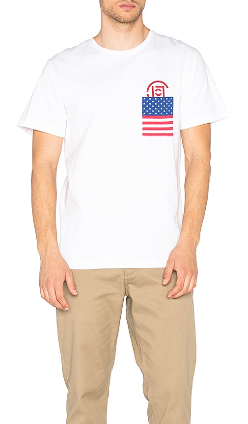CLOT x REVOLVE Flag Pocket Tee in White