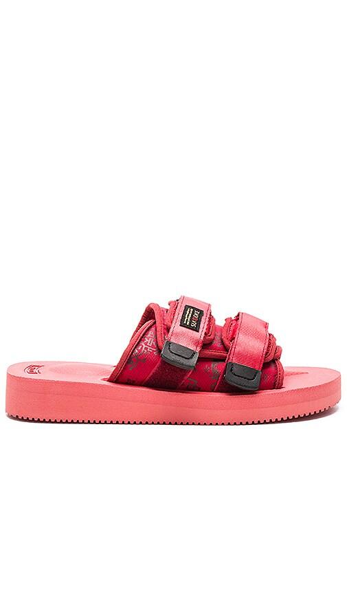 a1b6e12bafc5 CLOT x Suicoke Moto Sandal in Red