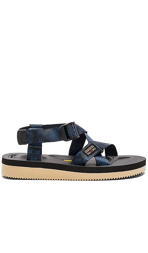 CLOT x Suicoke Chin Sandal in Navy