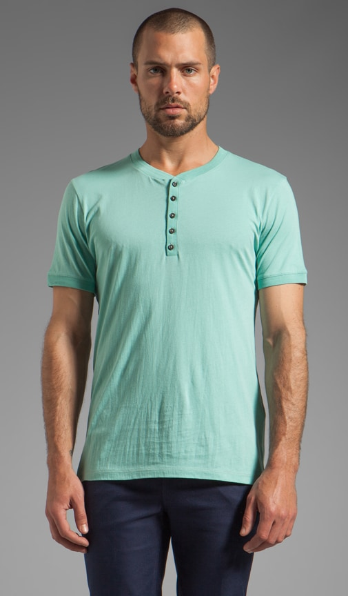 Short Sleeve Henley Light Jersey Tee