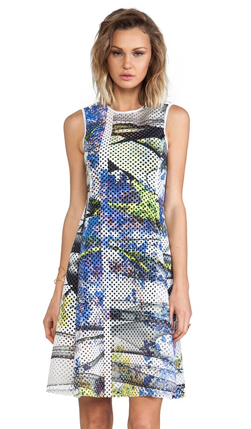 Space Garden Grid Neoprene Dress