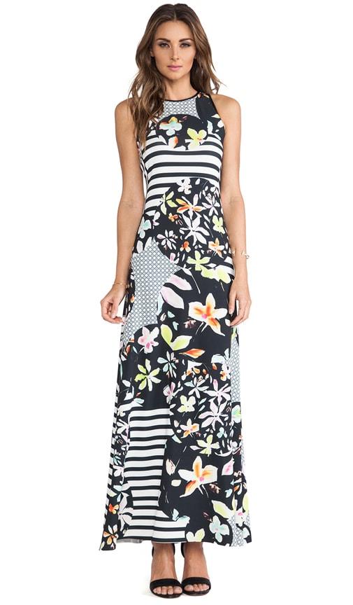 Floral Discs Maxi Dress
