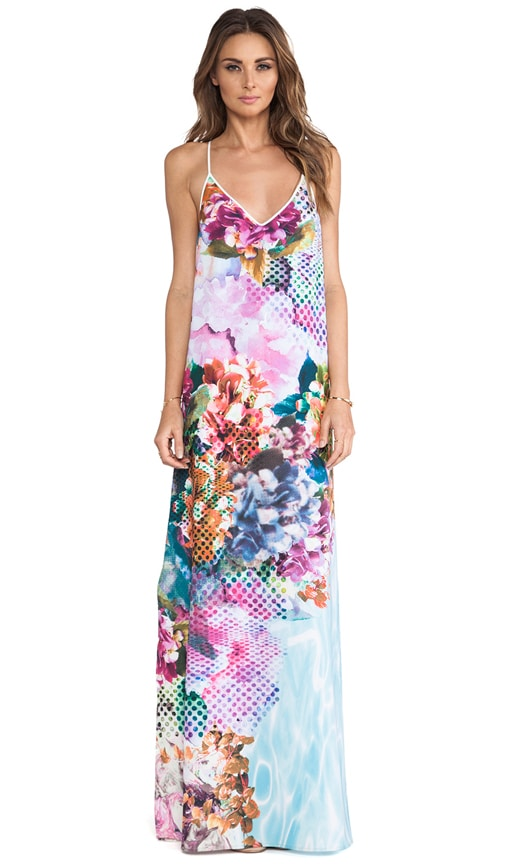 Pool Flower Maxi Dress