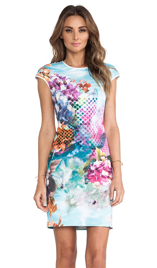 Pool Flower Neoprene Dress