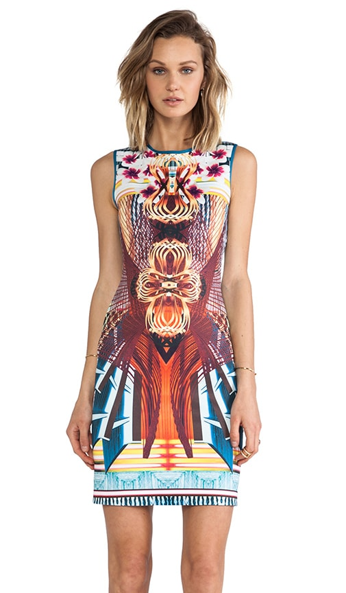 Furniture Weave Neoprene Dress