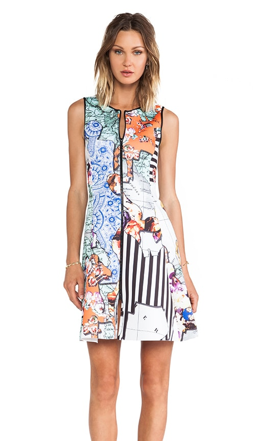 Floral Silhouettes Neoprene Dress