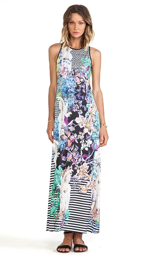 Enchanted Garden Jersey Maxi Dress