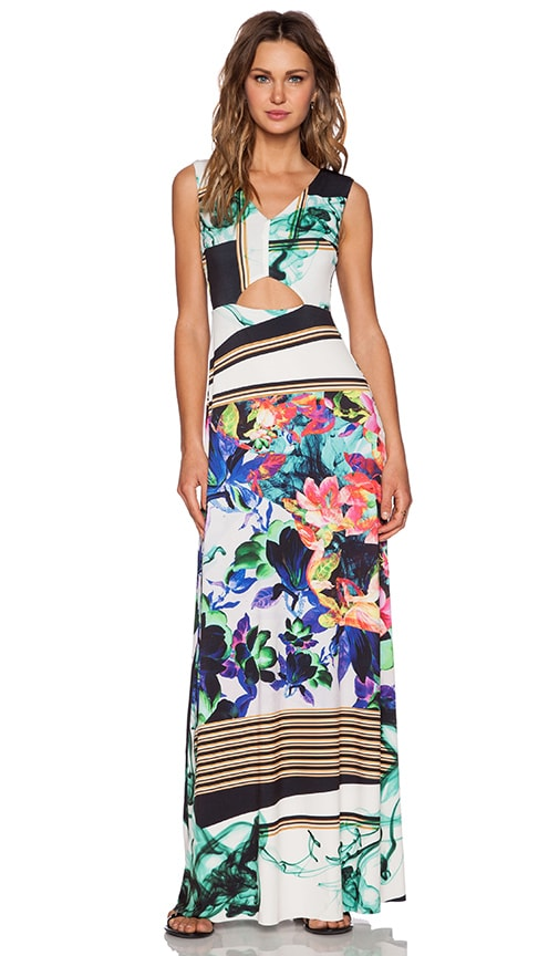Clover Canyon Liquid Jade Maxi Dress in Multi