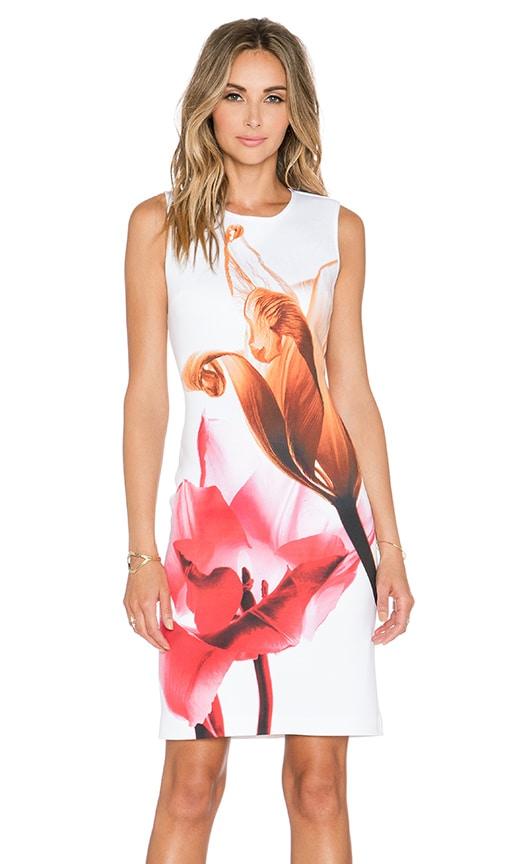 Silent Flower Midi Dress