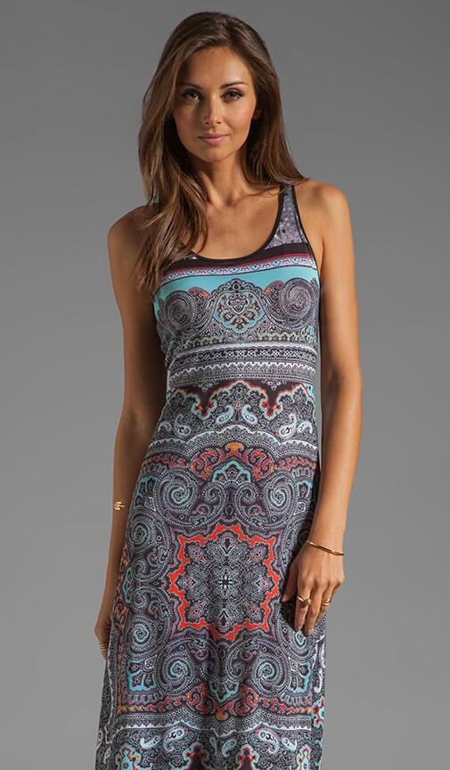 Paisley Disco Liquid Jersey Dress
