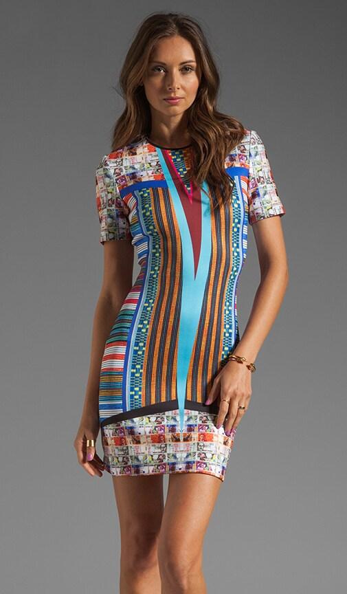 Woven Pesos Neoprene Dress
