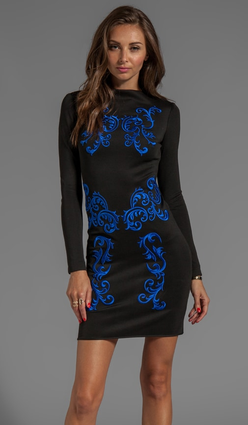Embroidery Neoprene Dress