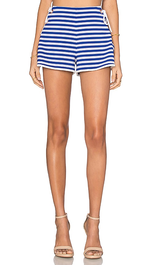 Clover Canyon Tie Side Short in Blue