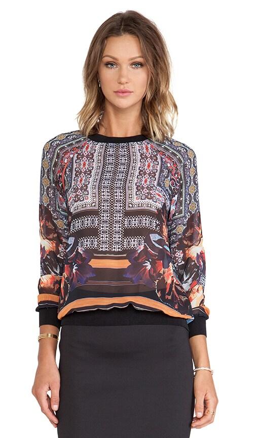 Irish Box Chiffon Sweatshirt