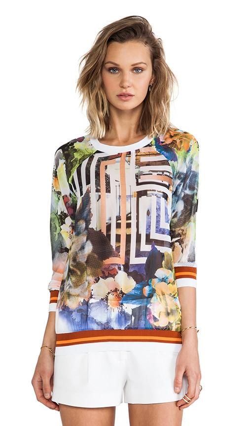 Floral Maze Chiffon Sweatshirt