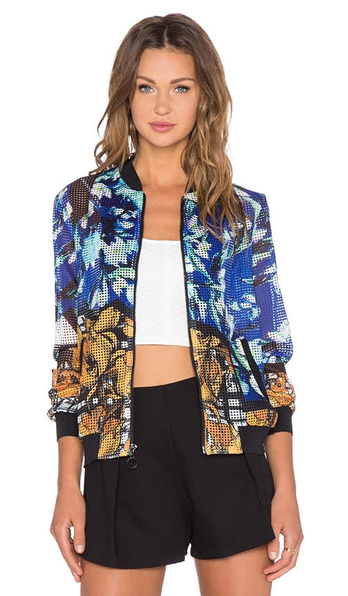 Clover Canyon Shattered Garden Jacket in Multi