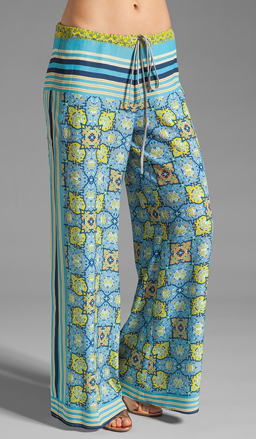 Art Deco Tiles Wide Leg Pants