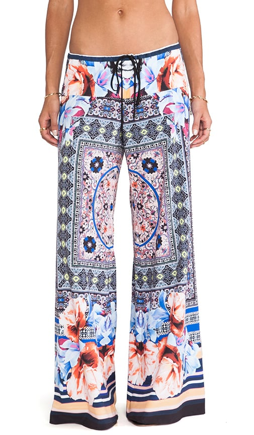 Byzantine Scarf Wide Leg Pant