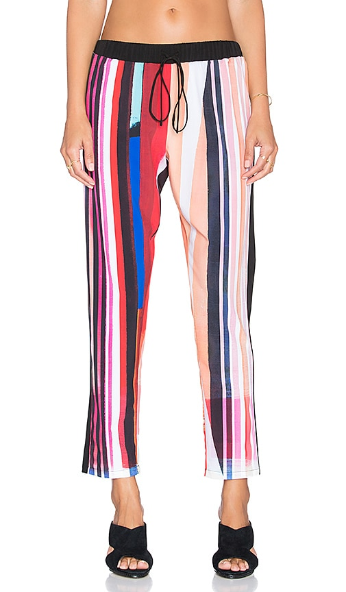 Clover Canyon Striped Eclipse Pant in Red