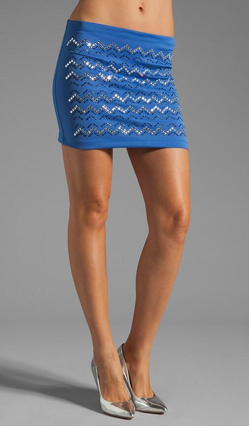 Zig Zag Rhinestone Neoprene Skirt