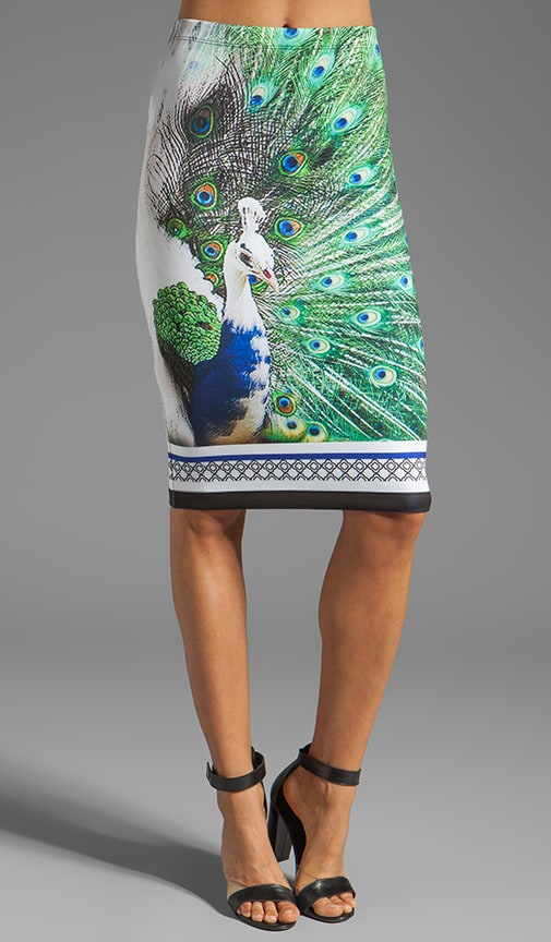 Peacock Neoprene Skirt