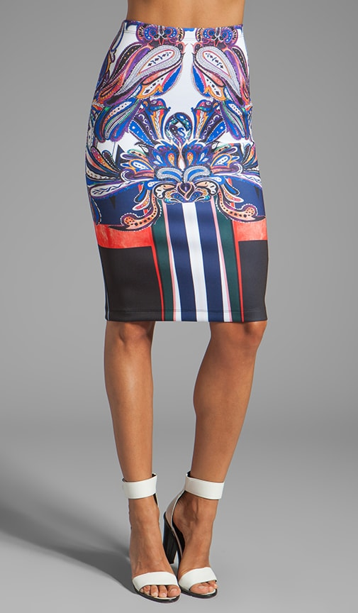 Geometric Owl Neoprene Skirt