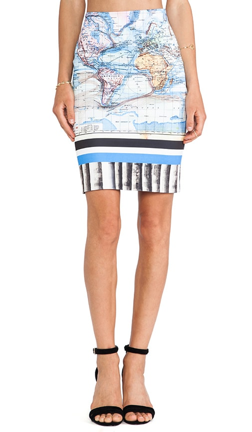 Ancient World Map Neoprene Skirt