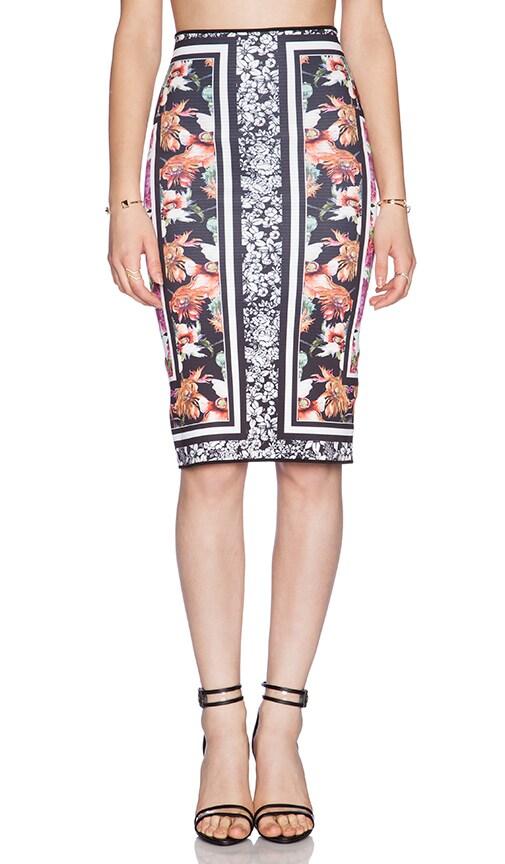 Floral Scarf Print Reversible Skirt