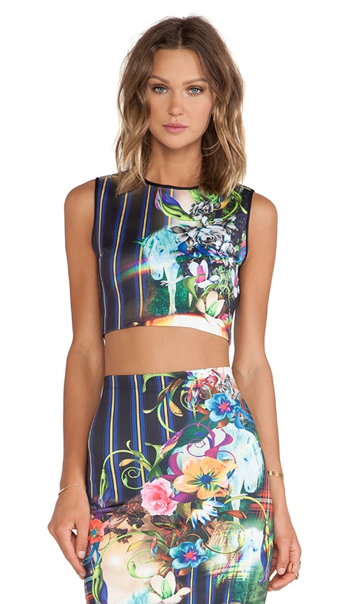 Magic Underworld Neoprene Crop Top