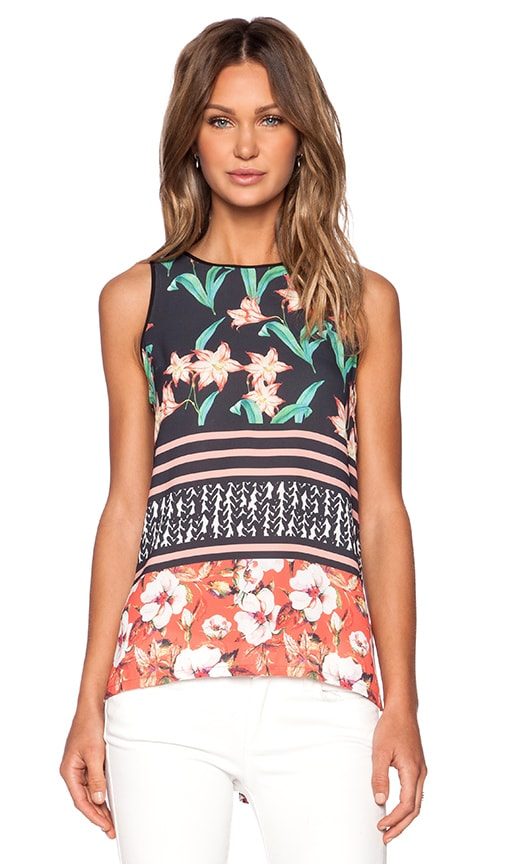 Clover Canyon Floral Sunrise Tank Top in Multi