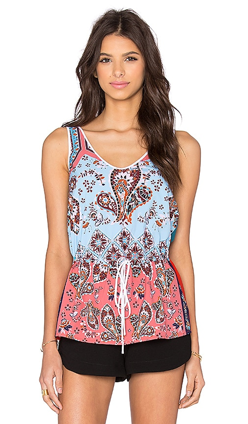 Clover Canyon Modern Paisley Tank in Teal