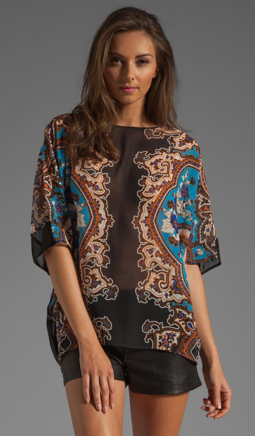 Holiday Paisley Blouse